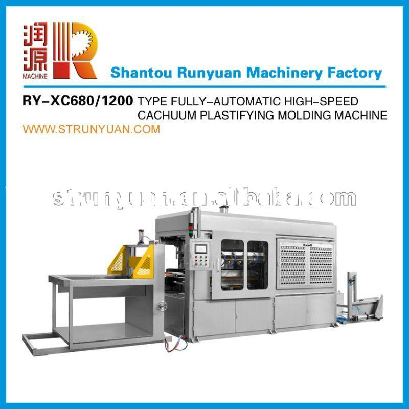 2012 Runyuan XC 680/1200 Automatic High-Speed Vacuum Thermoforming Plastifying Molding Machine