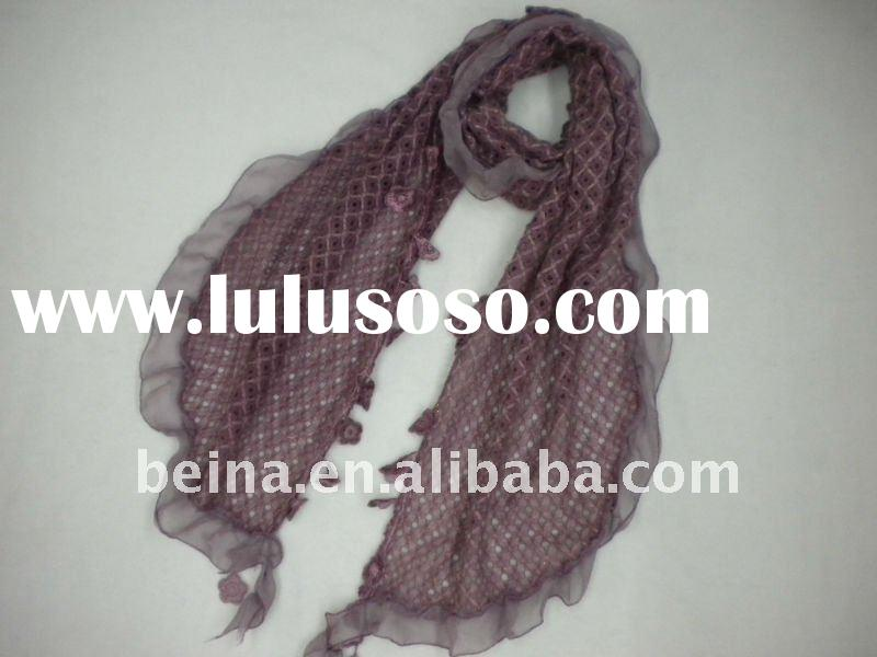 2012 latest new design cotton winter long fashion lady scarf shawl