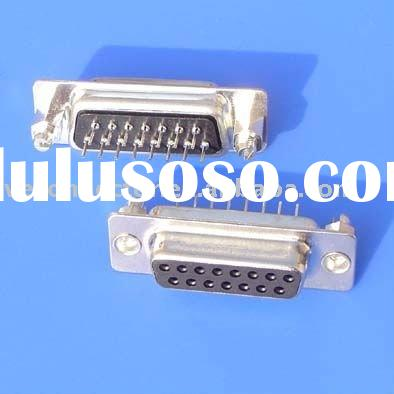 25 pin VGA screw connector,Female,straight,Dip to PCB