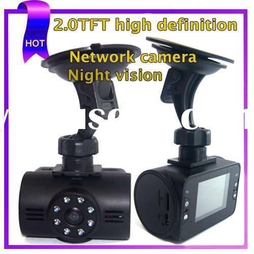 2.0 inch LCD TFT Wide angle 130degree Night vision 500W CMOS black box car camera(HT500)