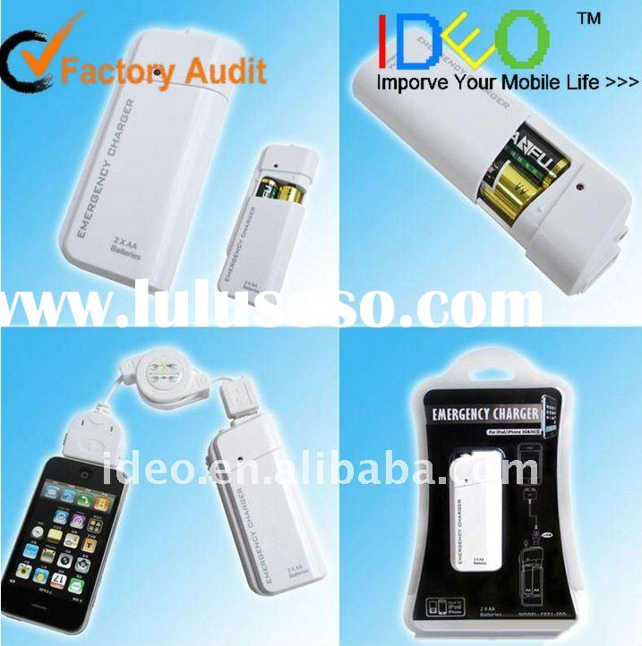 2 AA battery emergency charger for mobile phone