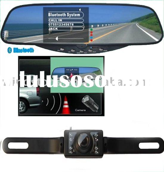 3.5 inch TFT Monitor+Rearview Mirror+Night Vision Car Camera+Car Bluetooth Handsfree Car Kit(BT728SE