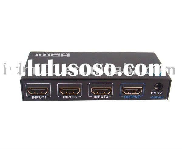 3 way to 1 way HDMI Switch Box LKV331, with remote control