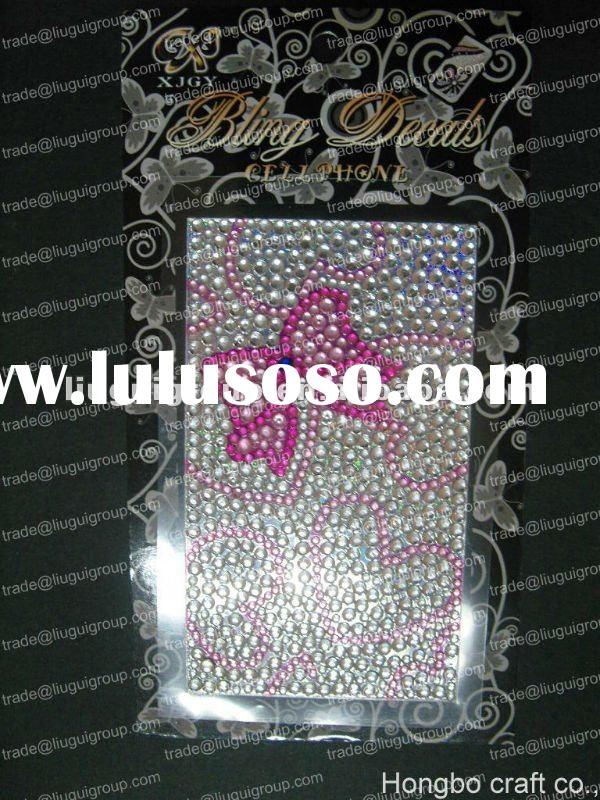 3d cell phone rhinestone stickers