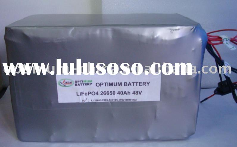 48V 40Ah LiFePO4 battery pack for E-scooter/motorcycle