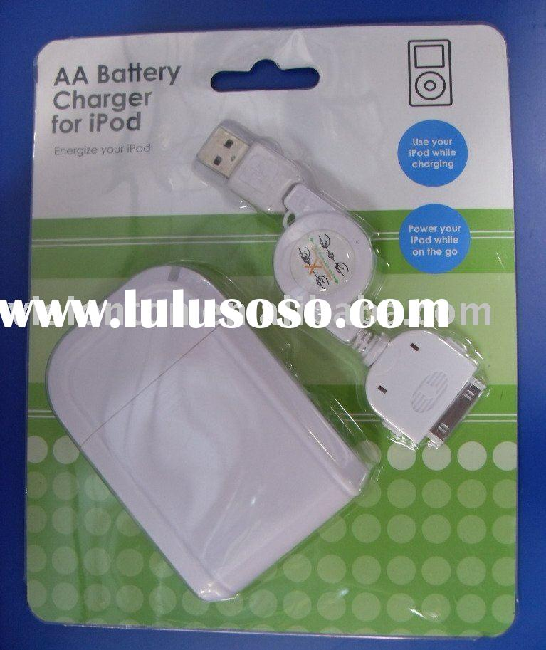 4AA Battery Powered Emergency Charger For iPod iPhone 3G S