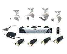4 channel DIY H.264 DVR Kit CCTV sureillance system with network function
