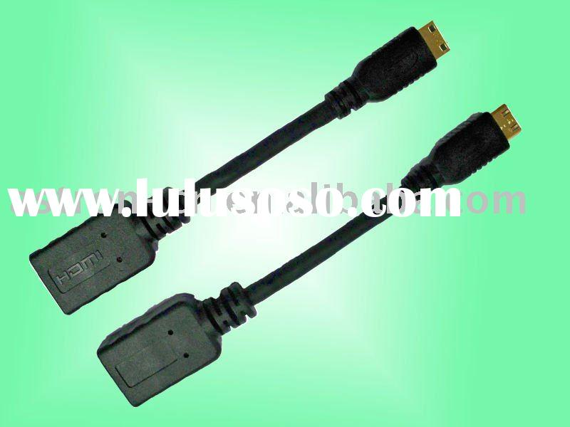 5 Inch High speed Gold-plated Micro HDMI Cable 1.4 Female to Male Type A to Type C