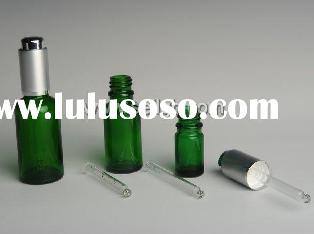 5ml 10ml 15ml 20ml 30ml 50ml 100ml Blue Glass Dropper bottle, cosmetic glass bottle with plastic dro