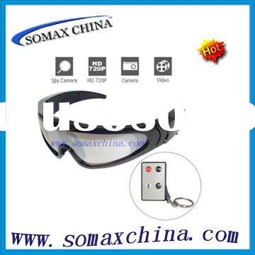720P HD Sport Glasses Digital Video Recorder with Remote Control