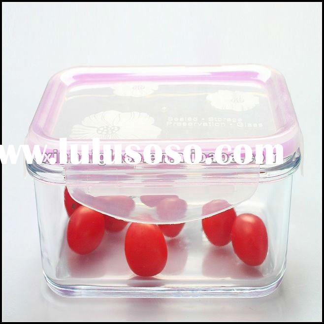 770ML rectangle high borosilicate glass food container with airtight lid
