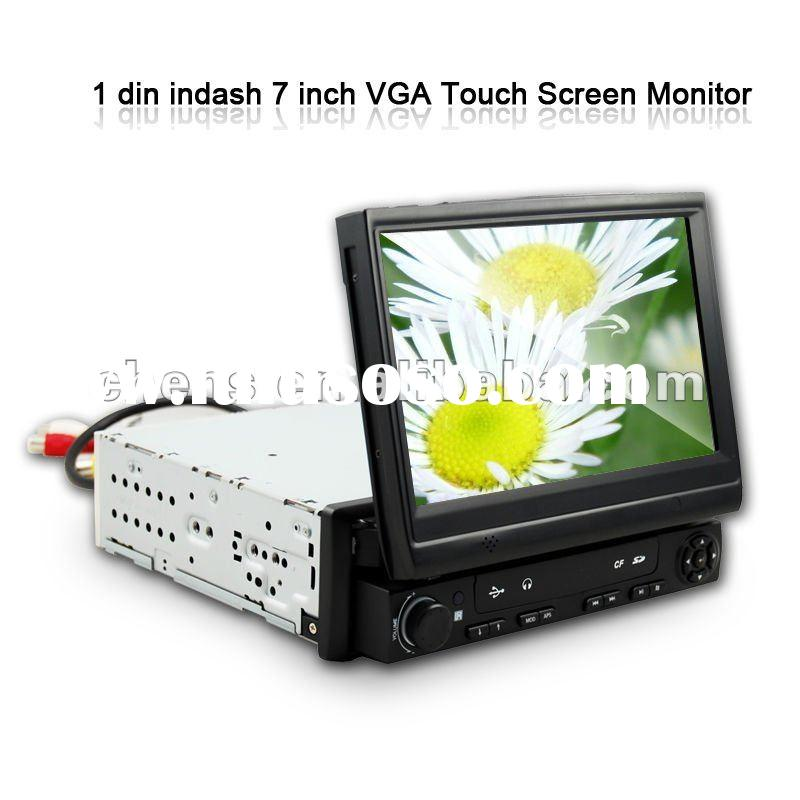 "7"" One Din Indash VGA TFT LCD Touch Screen Car Monitor"