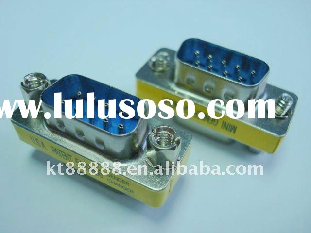 9 pin male-male D-sub connector- mini gender changer