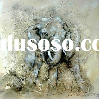Abstract elephant art oil painting