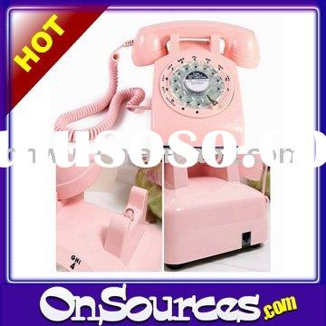 Antique Pink Rotary Dial Telephone
