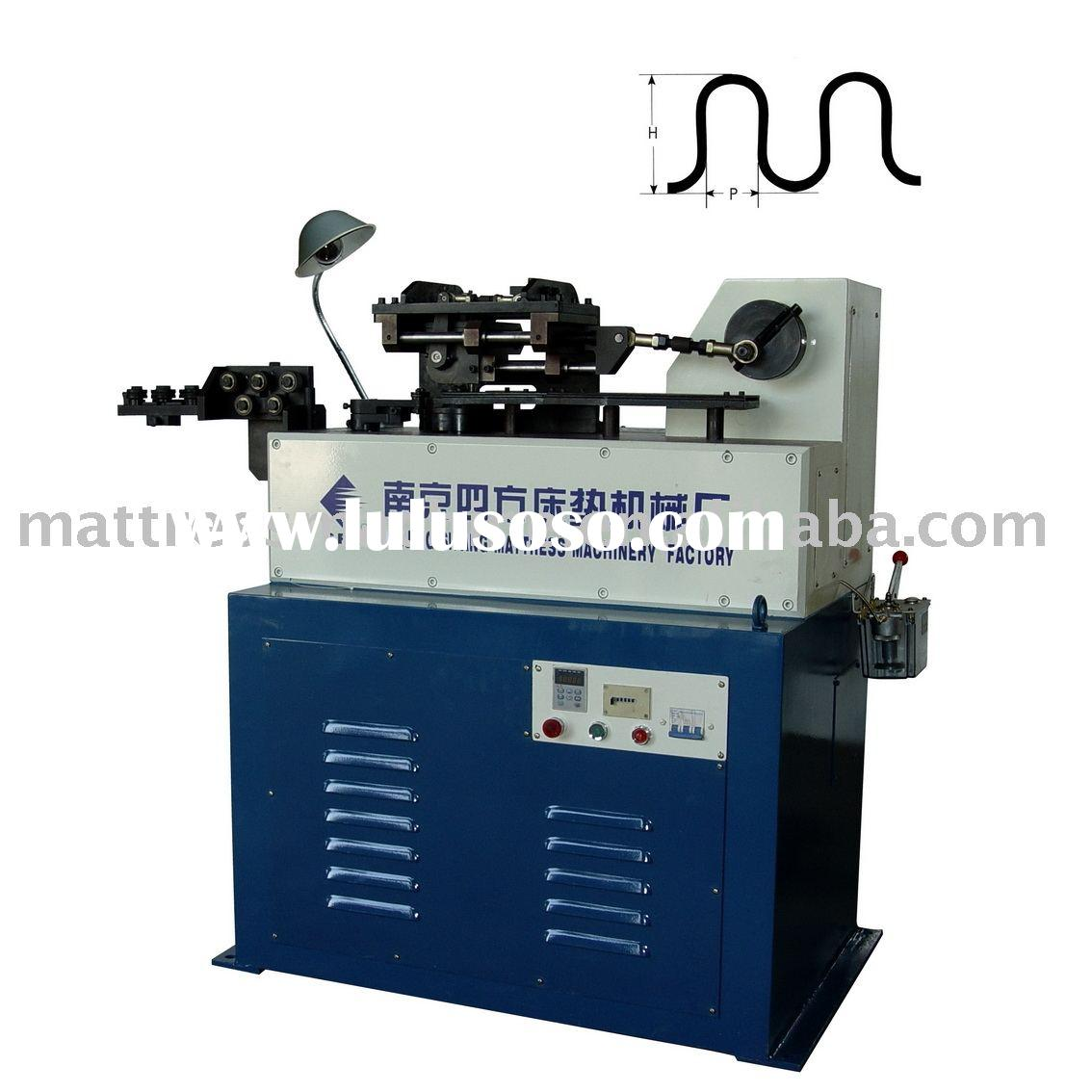 Automatic S-shape Zigzag Spring Forming Machine For Sofa Spring Equipment