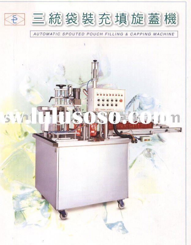 Automatic ice cream cone filling & sealing machine.