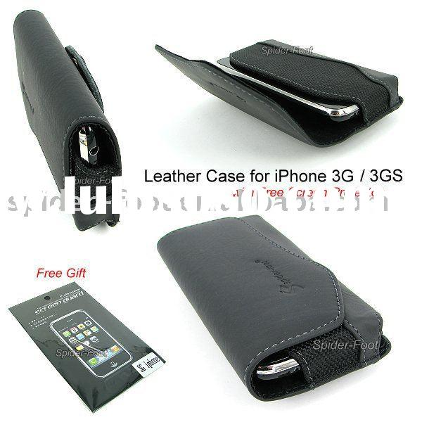 Black Book Leather Case Belt Clip Protector for iPhone 3G 3GS