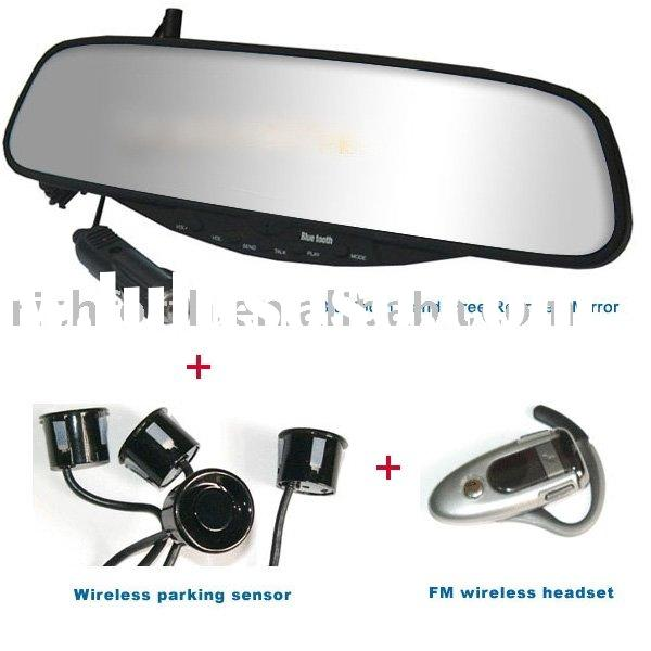 Bluetooth Handsfree Rearview Mirror Car Kit, OEM is available