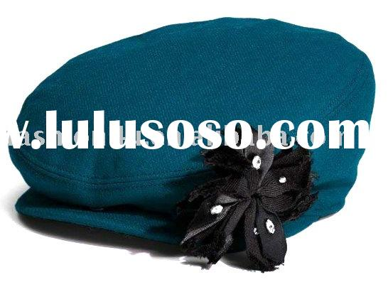 Brand New Fashion Womens Beret Hats Caps with Flowers
