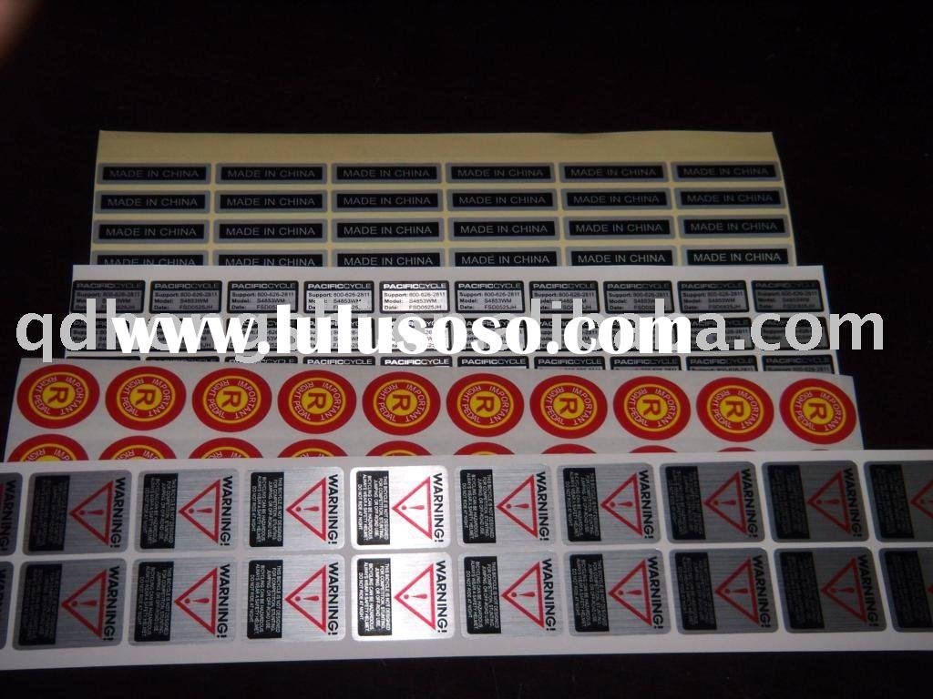 By air or sea, free design revise, OEM available, CMYK color,aluminium foil sticker