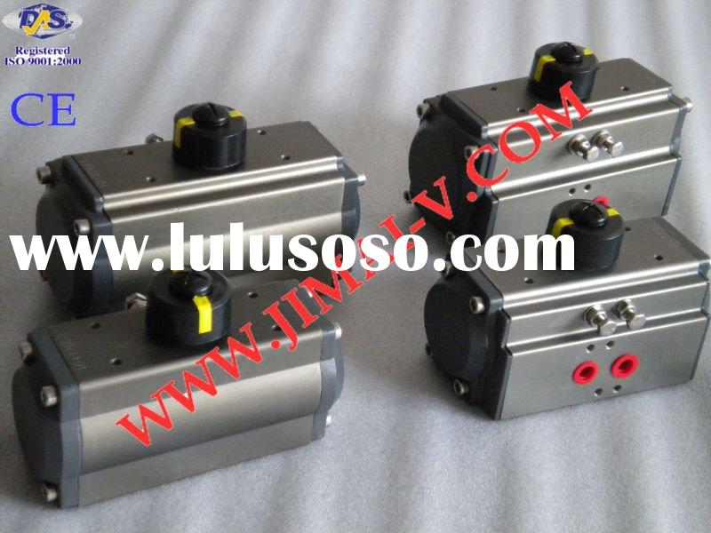 CE, ISO spring return rack and pinion pneumatic valve actuator
