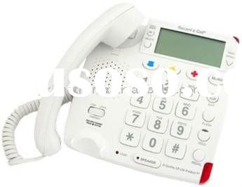 CV50 Big button talking Caller ID senior Amplified phone with Hearing Aid Compatibility