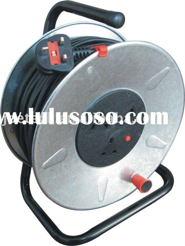 Cable Reel UK extension cord reel steel cable reel BS plug with cable H05VV-F 3G1.5mm2 25/50m