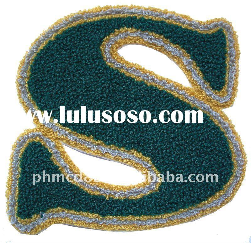 Chenille Embroidery Letters/Chenille Patches