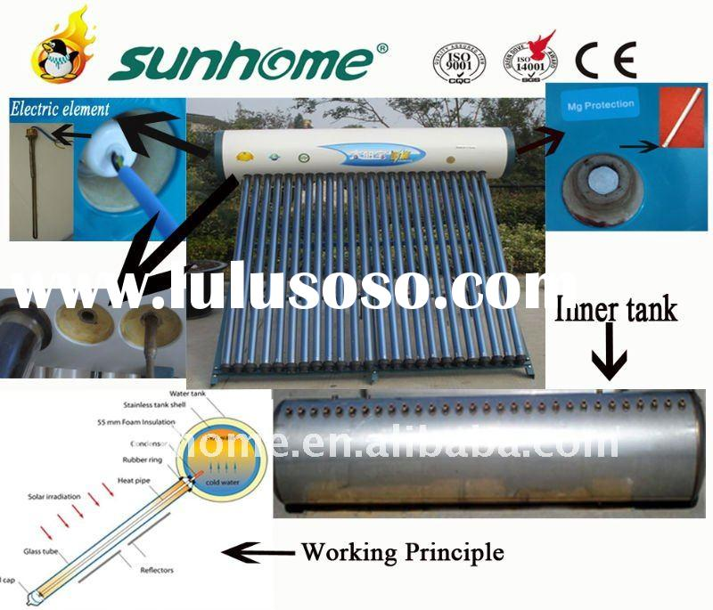 Compact pressurized solar water heater (ISO,CE,Solar Keymark),2012 New Arrival !