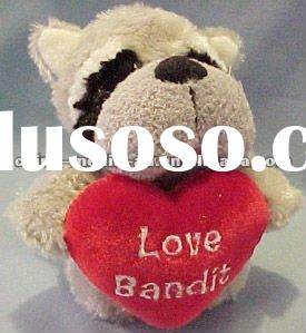 Custom Plush Valentine Bulldog/ Stuffed Bulldog