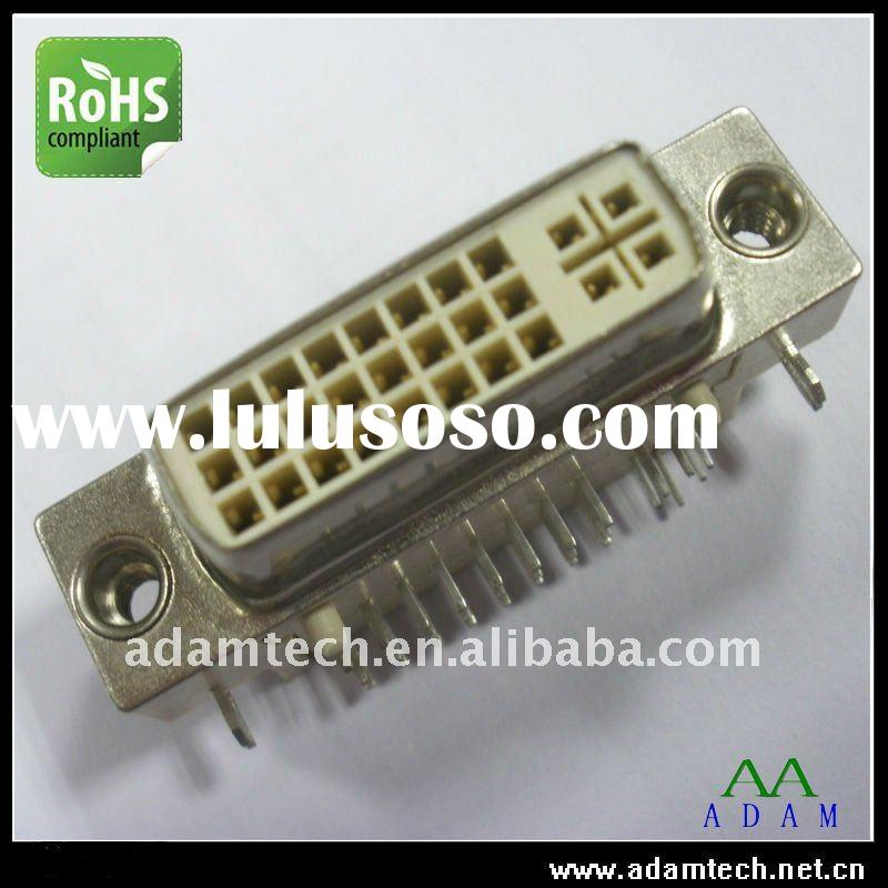 DVI Connector 24+5 Female PCB Mounting