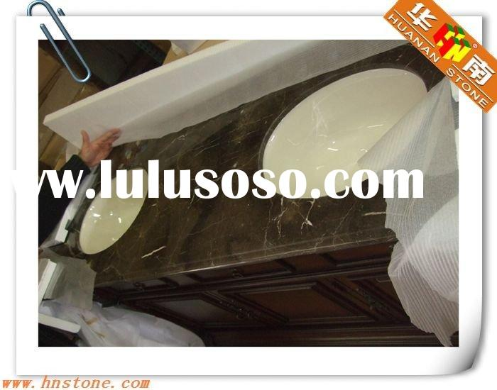 Dark Emperador Marble Bathroom Vanity top
