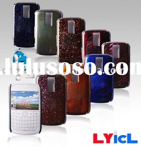 Double-color crystal case for mobile phone Blackberry /Cell phone crystal case/PDA crystal hard cove
