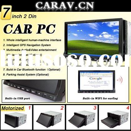 Double din Car PC with 7 inch touch screen monitor