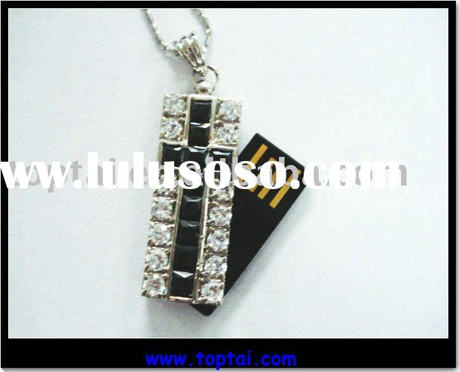 English and Spanish holy bible usb with crystal material