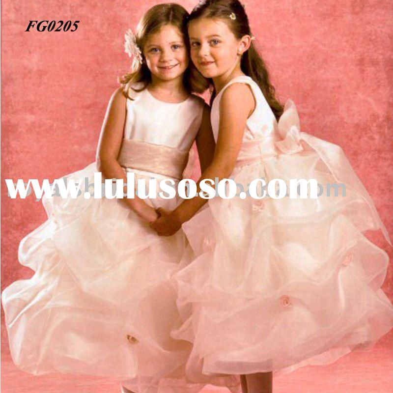 FG0205 Ball Gown Beautiful Flower Girls' Dresses