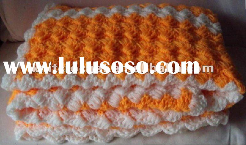 Fancy Hand made Knit Crochet Baby Blanket
