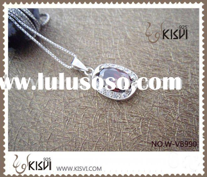 Fashion Jewelry 925 Sterling Silver Pendant with Zircon W-VB990