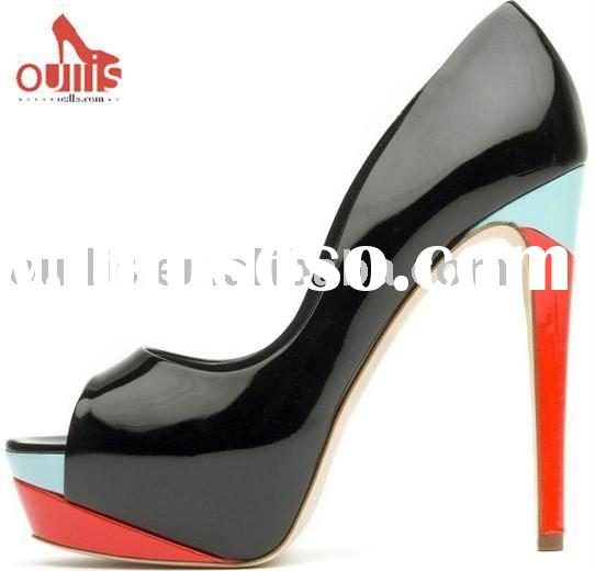 Fashion hot sale popular high heel dress shoes 864A