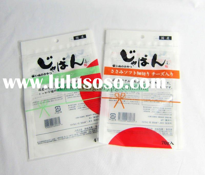 Flexible laminated zipper plastic bags for food packaging