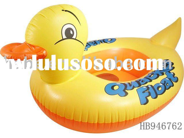 Floating inflatable duck shape swimming yacht, summer chilidren swimming boat,baby swimming toys