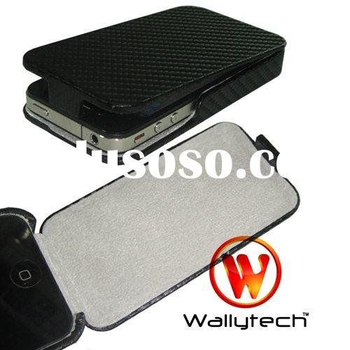 For Apple iPHONE 4 4G Hard Leather Pouch Case Cover