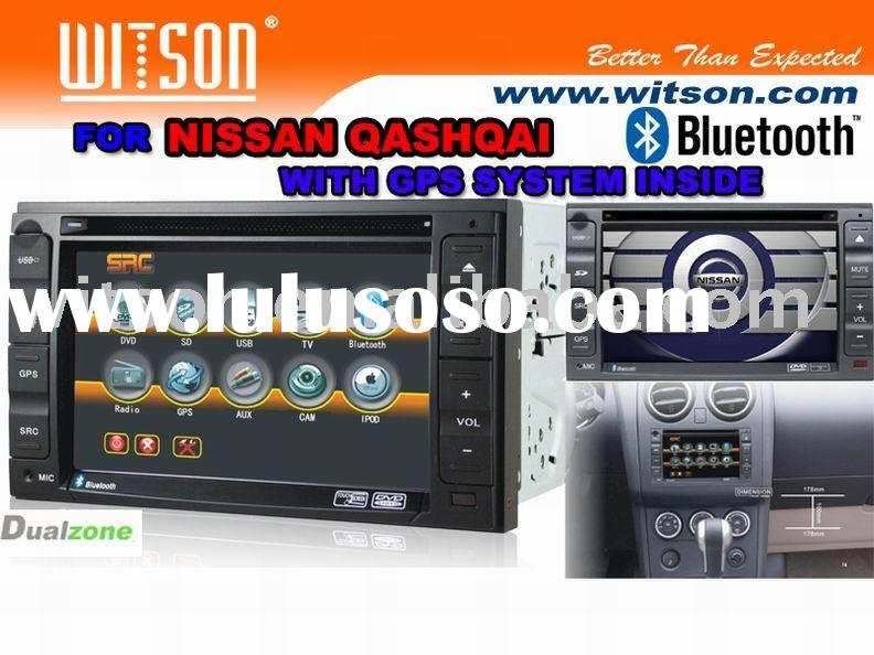 For NISSAN QASHQAI WITSON Special Car DVD Player For NISSAN QASHQAI with Built-in GPS