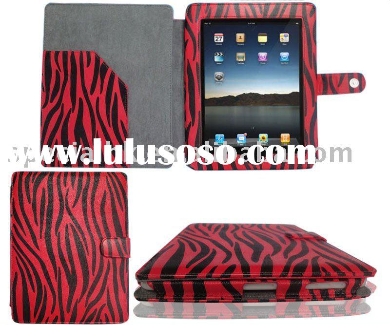 For iPad Leather Flip Case Pouch Cover Holder