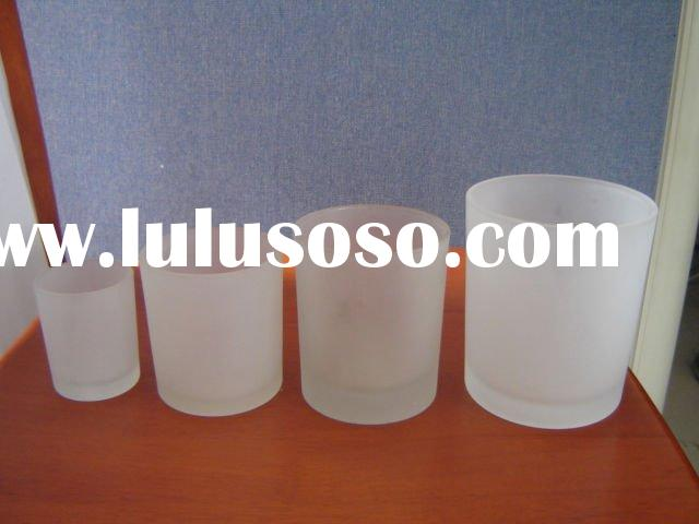 Frosted glass candle holder cup ,candle container