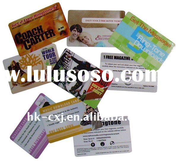Full Color Printing Credit Card Style Plastic Cards