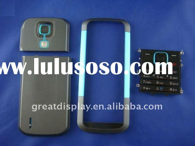 Full faceplates mobile phone housing cover case + keypad for nokia 5000 cell phone blue color