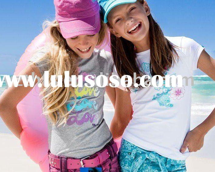 Girl's fashion lovely good quality low price T-shirt