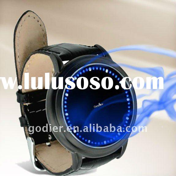 Godier watches,Godier LED touch screen watches,Abyss Japanese-Inspired Blue LED Touchscreen Watch